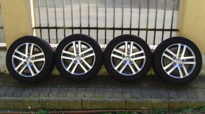 Jante aliaj Atlanta Bicolor Noi 5x112 pe 16 orig.VW Golf 6,Jetta,Touran,(Golf 7,Golf5)/205/55R16 91H