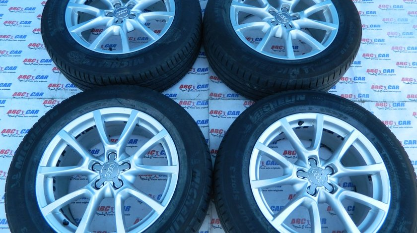 Jante aliaj cu anvelope de vara Audi Q5 8R 235 / 60 / R18 cod: 8R0601025C model 2012