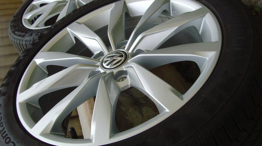Jante aliaj Dijon 5x112 pe 17 orig.VW Golf 7,(Golf6,Jetta,Touran,etc)/c.vara 225/45R17 91Y Conti PC6