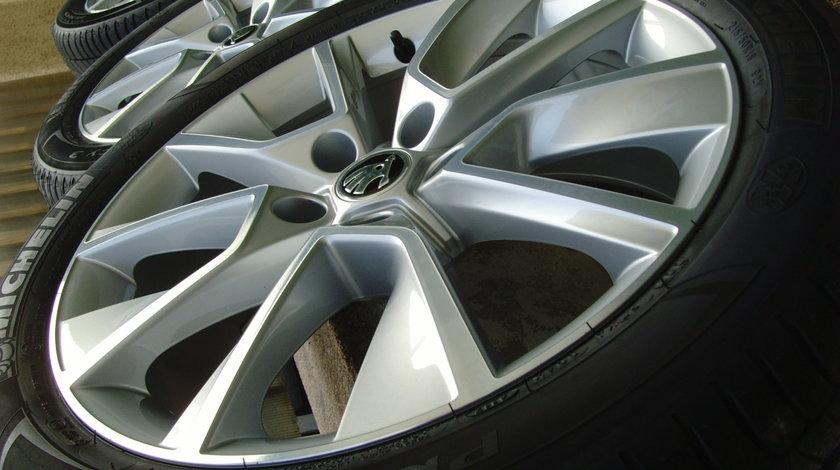 Jante aliaj Noi 5x112 pe 18 originale Skoda Karoq,(Audi Q2,VW T-roc,Seat Arona)/215/50 R18 Michelin