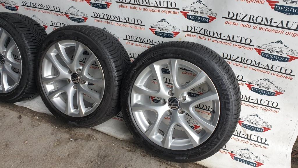 Jante aliaj originale cu anvelope iarna Michelin noi (235/45/R17) 8Jx17H2 ET41 VW Eos