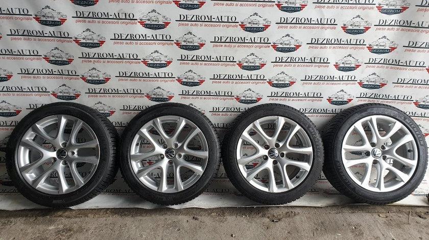Jante aliaj originale cu anvelope iarna Michelin noi (235/45/R17) 8Jx17H2 ET41 VW Golf 5