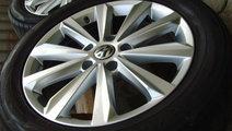 Jante aliaj Salamanca 5x130 pe 19 originale VW Touareg 2013,anvelope vara 265/50R19,senzori presiune