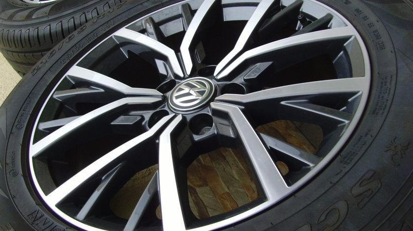 Jante aliaj Tulsa Noi 5x112 pe 17 originale VW Tiguan 2017-2019/anvelope vara 215/65R17 99V Pirelli