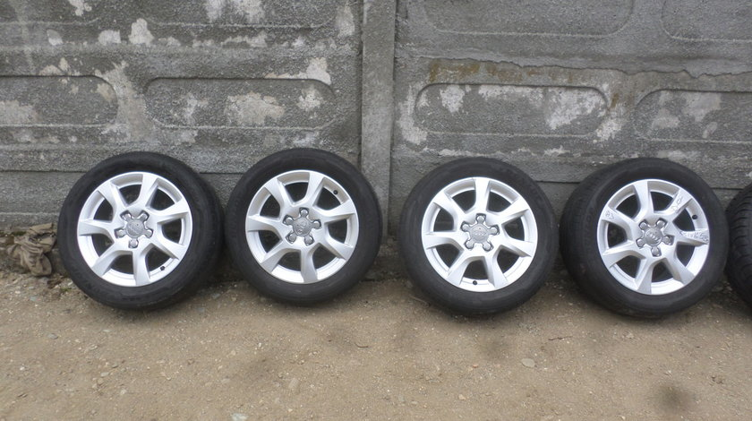 Jante Audi A3 8p sau A4 b7 vara 205 55 16 dunlop