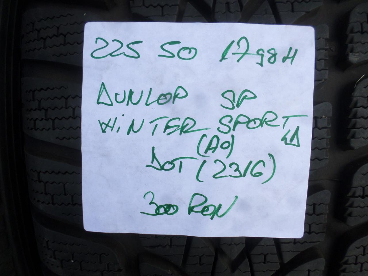 Jante Audi A4 B9 225 50 17 Iarna Dunlop SP Winter Sport 4D DOT (2316)