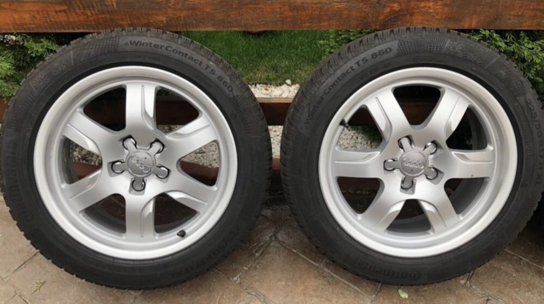 """Jante Audi A5 , originale , 17"""", anvelope iarna ca noi"""