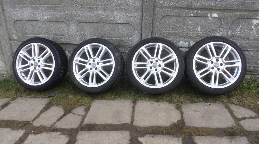 Jante audi A6 4G C7  S6 RS6  A5 A7 A8 cu anvelope iarna 245 40 20 Dunlop+Senzori