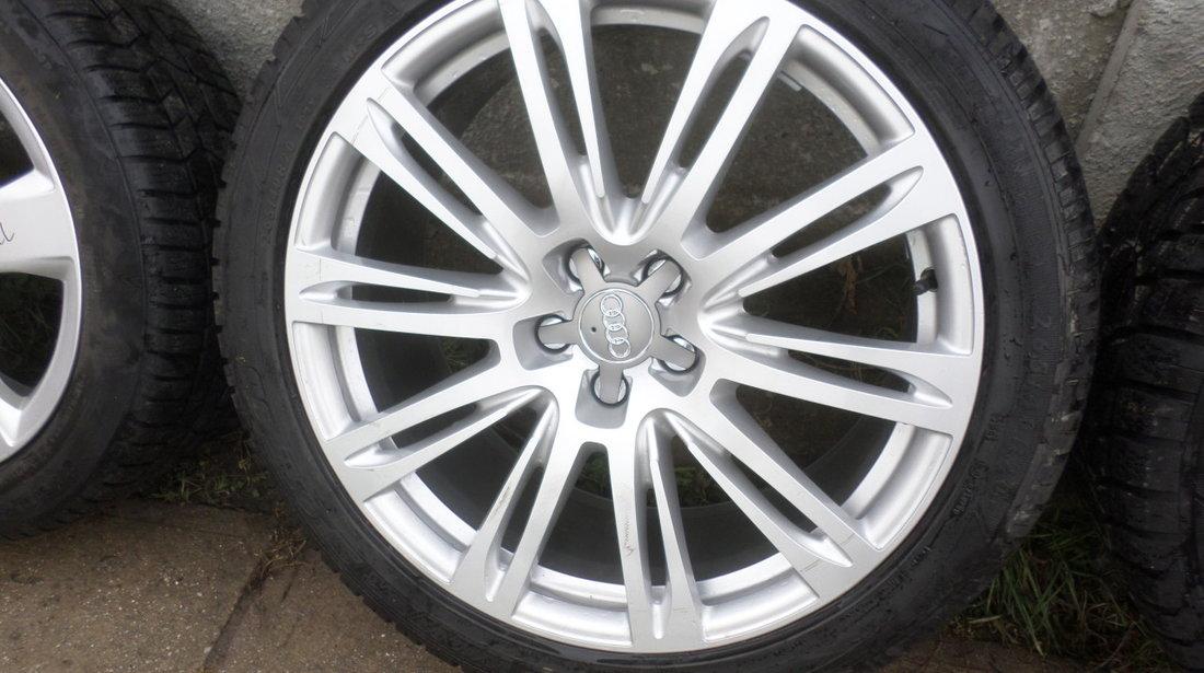 Jante Audi originale A8 S8 echipate cu anvelope iarna ca si NOI 265 40 20 Dunlop