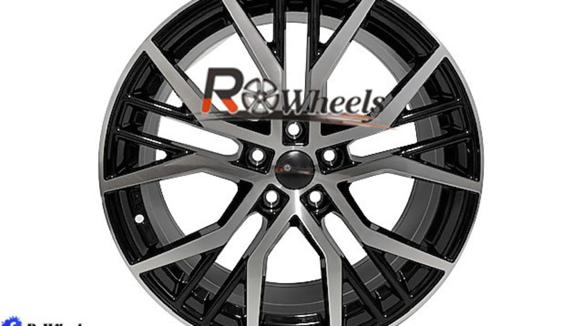 Jante AUDI SEAT SKODA VW 18 R18 Black Machined Face 5X112