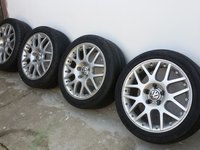 Jante BBS RS 800, 5x112, 17 inch, originale VW, anvelope 225/45/17
