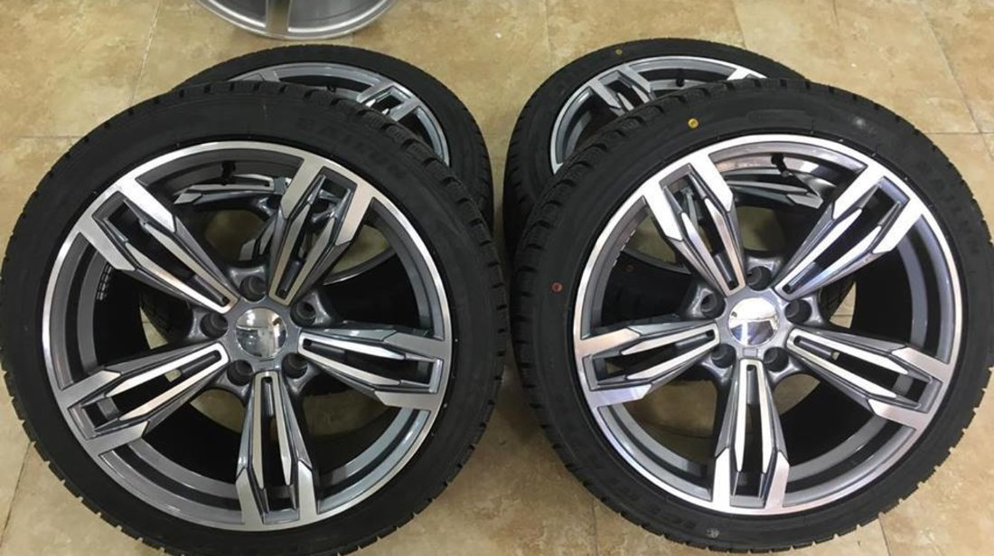 Jante BMW 18 R18 cu anvelope iarna 245-40-18 BMW E60 E61 F30 F31