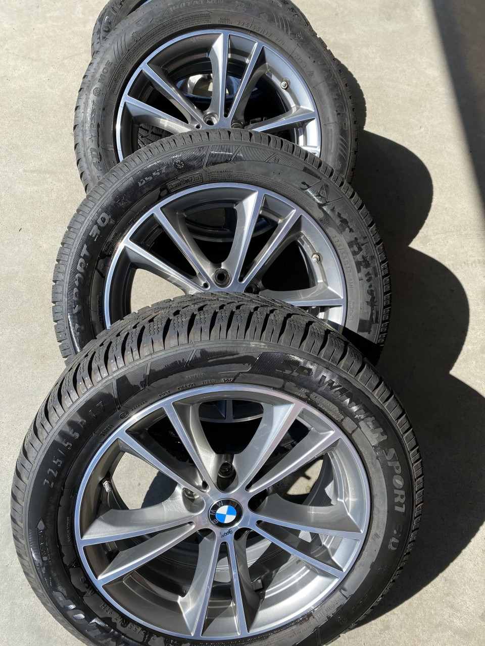 "Jante BMW originale 17"" PTR G30 G31 X1 X2 cu anvelope"