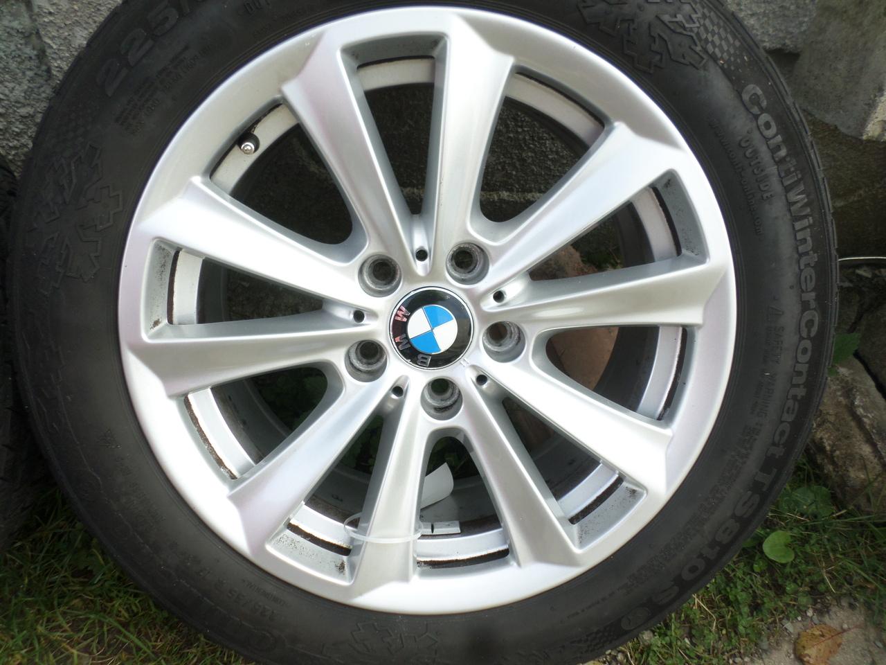 Jante BMW seria 5 f10 cu anvelope de iarna 225 55 17 Continental
