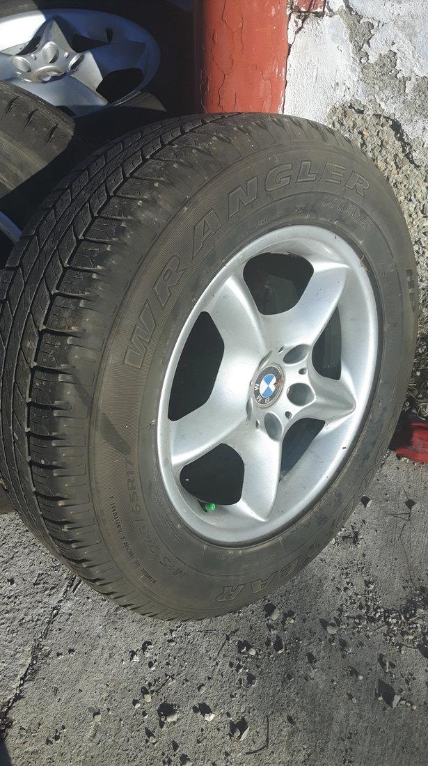 Jante BMW X5 E53 R17 cu cauciucuri vara 245/65/r17 M+S toate anotimpurile Good Year