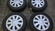 Jante+capace 4x100 pe 14 originale Skoda Citigo,VW...