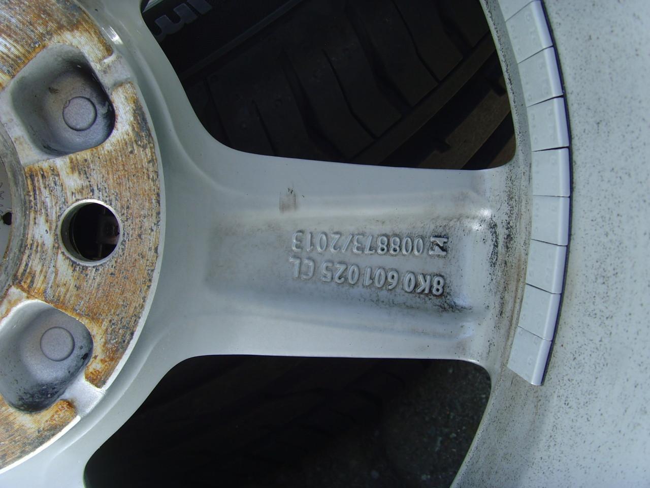 Jante de aliaj 5x112 pe 16 originale AUDI A4 B8 S-line/anvelope vara ca noi 225/55 R16 95Y Conti2017