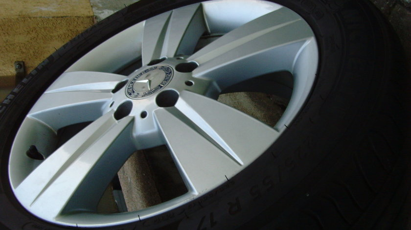 Jante de aliaj 5x112 pe 17 originale Mercedes Viano,Vito / anvelope vara 225/55R17 Michelin DOT2018