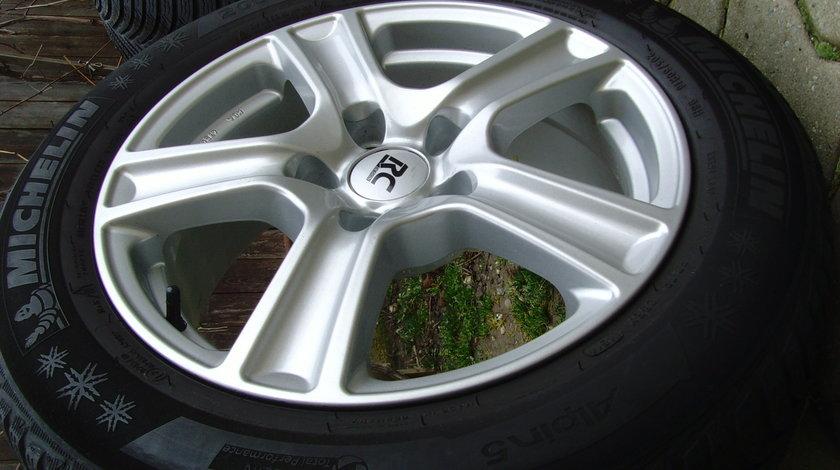 Jante de aliaj Brock 5x112 pe 16 ptr. Audi A4 B8,(A5,A6) / anvelope iarna 205/60R16 din2015