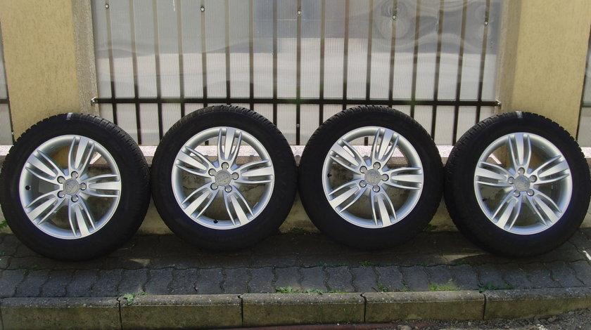 Jante de aliaj ca Noi 5x112 pe 17 originale Audi Q3(VW Tiguan)/c.iarna ca Noi 215/60R17 Dunlop 8,5mm