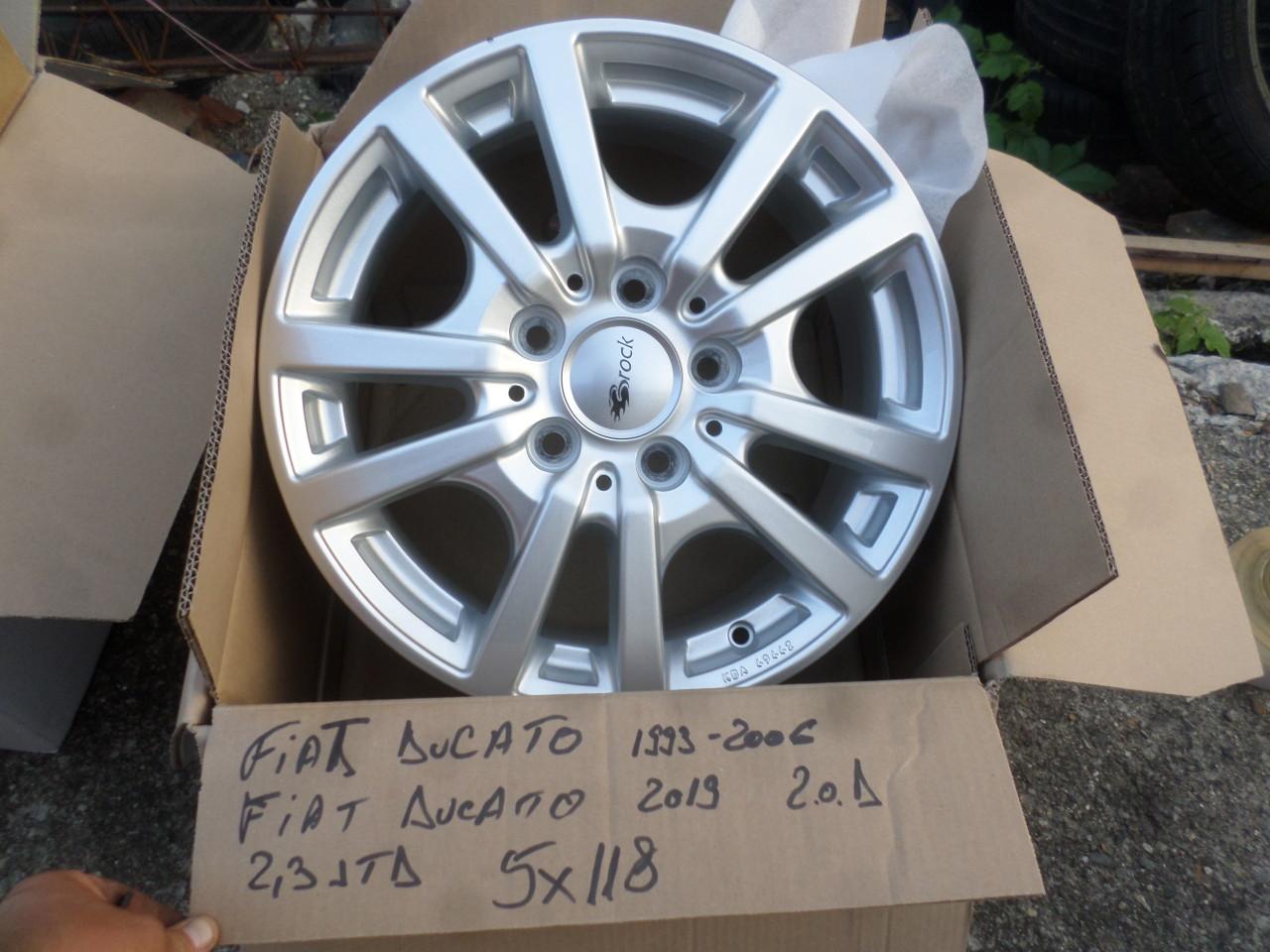 Jante Fiat Ducato  2,3 JTD 2,0 D  Autorulota 16 zoll 5x118 marca Brock