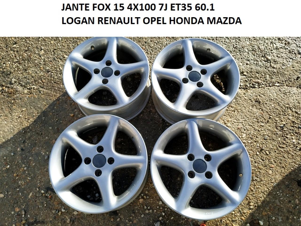JANTE FOX 15 4X100 LOGAN RENAULT OPEL SI ALTELE