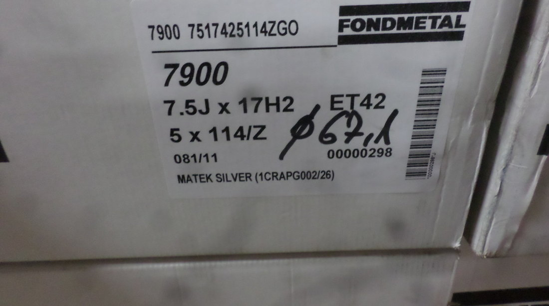 Jante marca FONDMETAL 7900 pentru gama HONDA HYUNDAI JEEP KIA  TOYOTA pe 17 zoll NOII