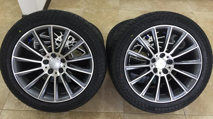 Jante Mercedes AMG 18 R18 E class W213 anvelope vara in 2 latim   jantele si anvelopele sunt in 2 la