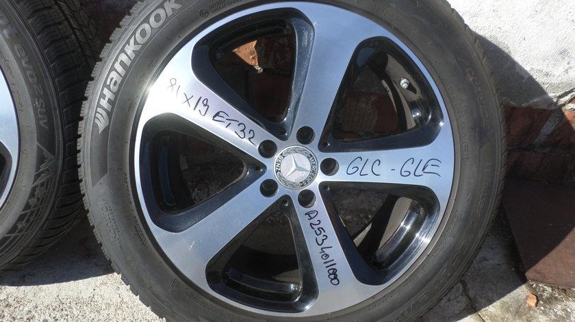 Jante Mercedes glc 235 55 19 Vara NOII  Dunlop Sp Sport Maxx  cu SENZORI PRESIUNE
