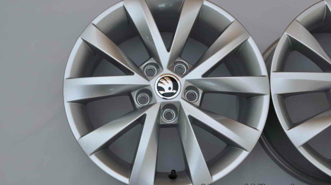 """Jante Noi 16"""" Originale Skoda Octavia 3 16 inch Alcatraz 5E0601025BJ"""