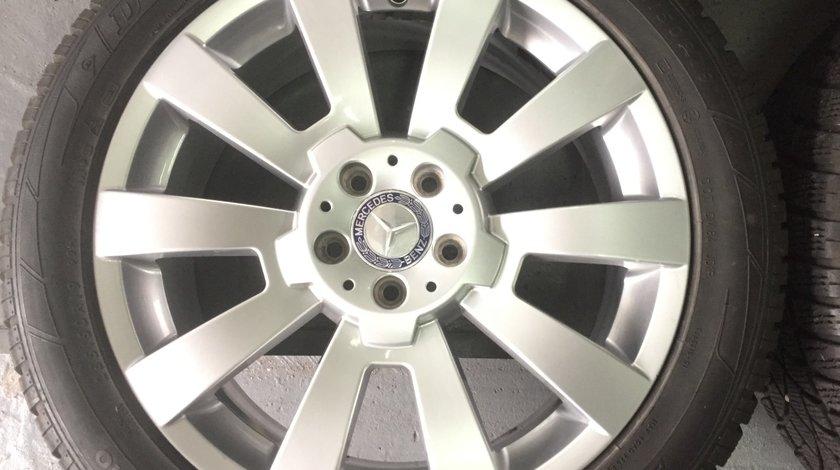 Jante OEM R19 Mercedes GLK echipate cu anvelope iarna latimi diferite