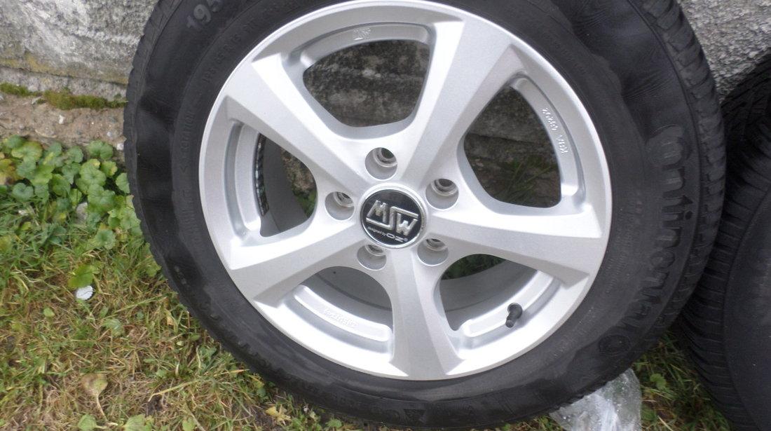 Jante  OZ 15zoll pentru  VW Golf 5 6 7 caddy Passat 195 65 15 Iarna Continental