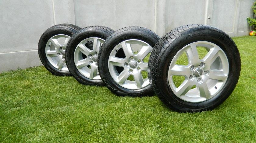 Jante Roti Iarna  Audi Q7 4L  255/55R18 109H cod 4L0601025AG cu anvelope iarna Barum Polaris 3 4x4