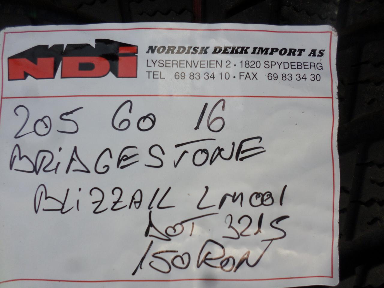 Jante tabla audi A4 B8 cu anvelope iarna 205 60 16 bridgestone