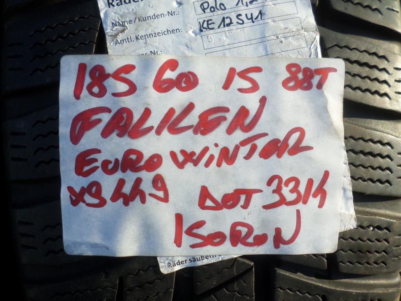 Jante tabla  Skoda Fabia VW Polo Seat Ibiza Audi A1 185 60 15 iarna Falken Eurowinter