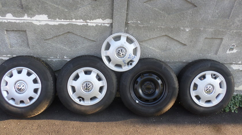 Jante Tabla VW Golf 4 cu anvelope 175 80 14  Iarna Continental
