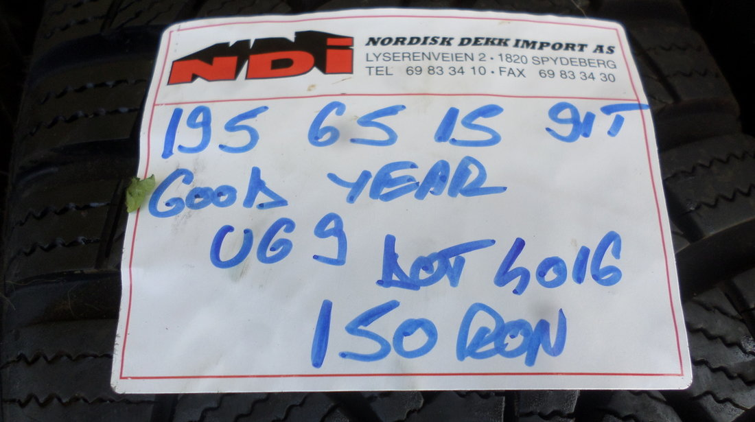 Jante Tabla VW Golf 5 6 7 Iarna 195 65 15 Goodyear