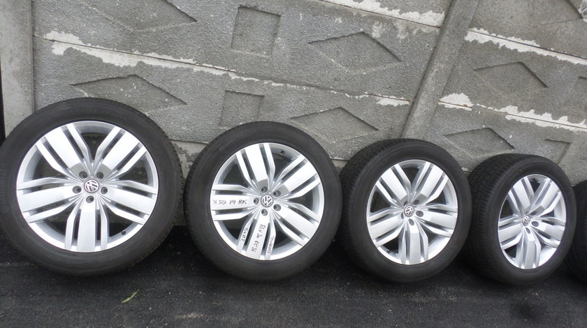 Jante VW Touareg 3Q prindere 5 X 112 VARA Continental  255 50 R20