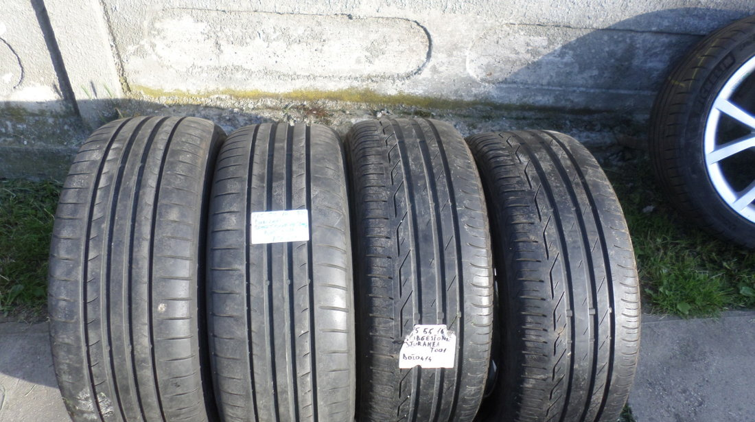 Jante wv originale pe 16 model ADELAIDE cu anvelope vara 215 55 16 Bridgestone & Dunlop