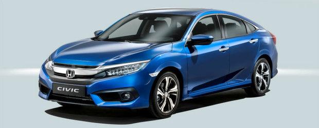 Japonezii incep ofensiva. Honda lanseaza cel mai sportiv Civic de pana acum la Paris