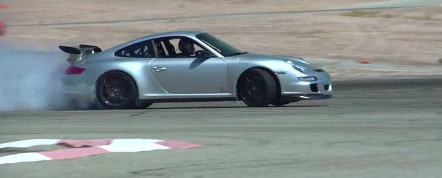 Jay Leno incearca o pereche de jante din carbon pe un 911 GT3 RS