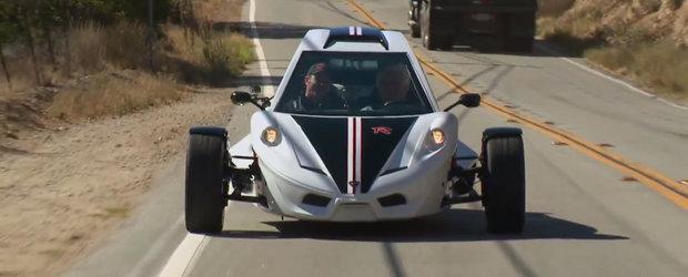 Jay Leno incearca un triciclu cu motor de Hayabusa si 197 CP