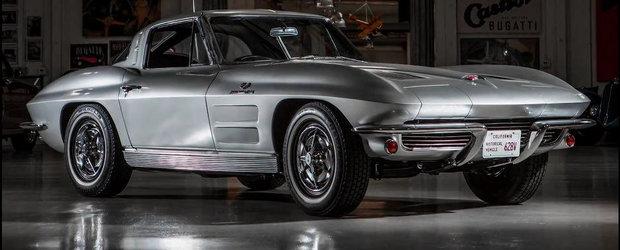 Jay Leno ne prezinta noua sa achizitie: un superb Corvette Stingray din '63