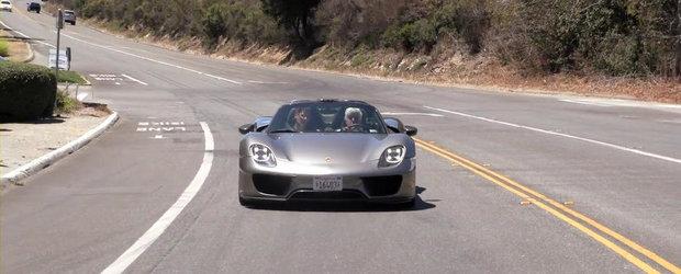 Jay Leno scoate la o tura noul Porsche 918 Spyder