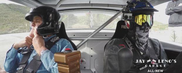 Jay Leno si Ken Block cred ca au solutia la serviciile de livrare prea lente