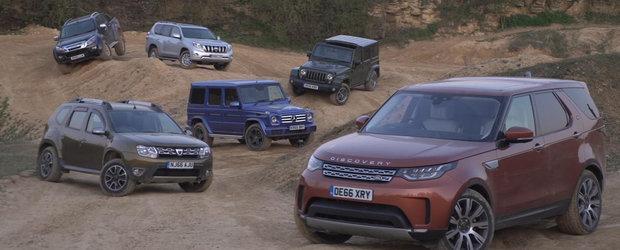 Jurnalistii englezi, probabil beti, compara Dacia Duster cu Mercedes G-Class, Toyota Land Cruiser si Land Rover Discovery