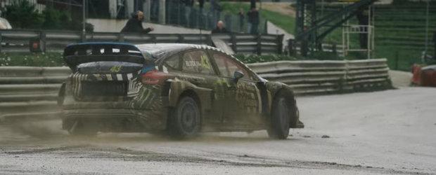 Ken Block ne arata ce stie sa faca noua lui masina de Rallycross