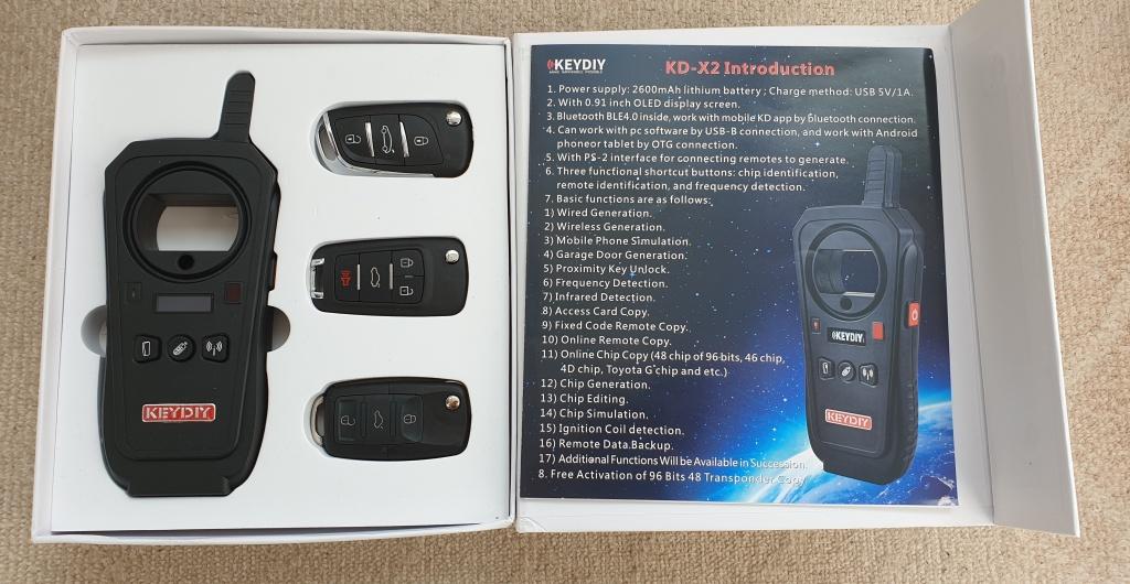 KEYDIY KD-X2 programator telecomenzi + chei, clonare 96bit 48 transponder