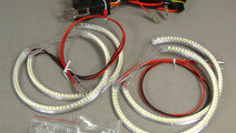 Kit 4 inele Angel Eyes LED SMD compatibil BMW seri...