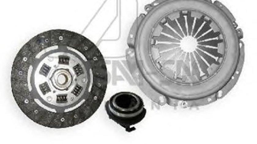 Kit ambreiaj Dacia Logan 2004-2012; Sandero 2008-2012 motorizare 1.6/1.6 16V mpi ; Renault Megane 1, Clio 2 , Kangoo ; 7701477017 Asam - placa presiune, disc si rulment Kft Auto